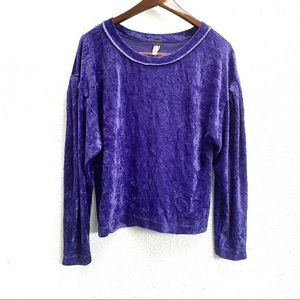 NWT We the Free Milan Velvet Pullover Sweater S